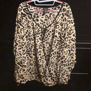 TORRID leopard blouse
